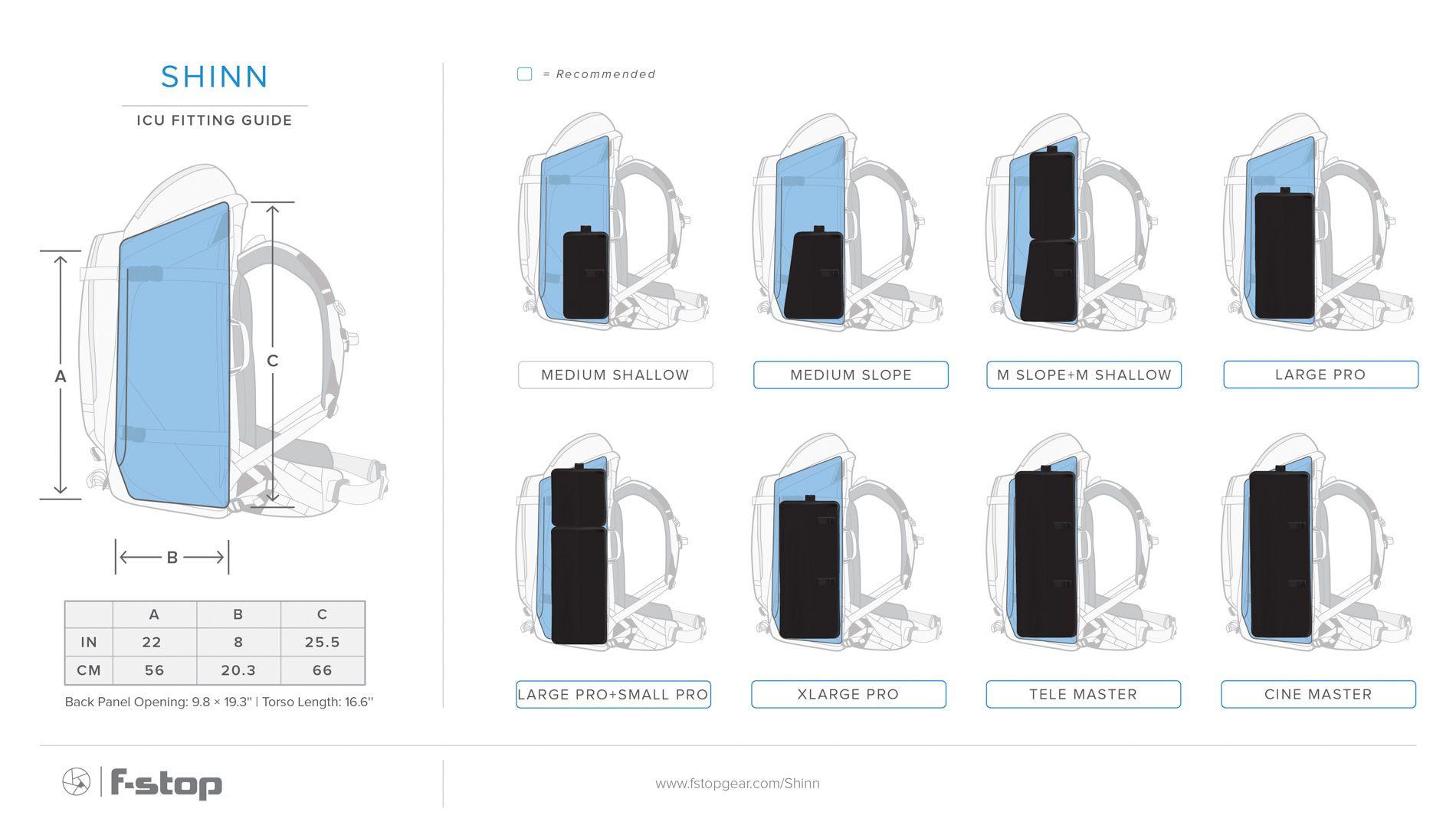 F-STOP SHINN PLECAK 80L kompatybilne ICU