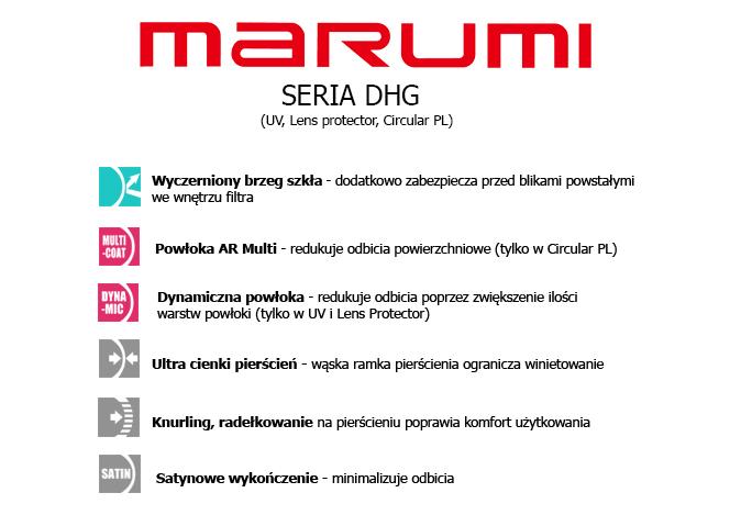 Filtry fotograficzne Marumi UV z serii DHG